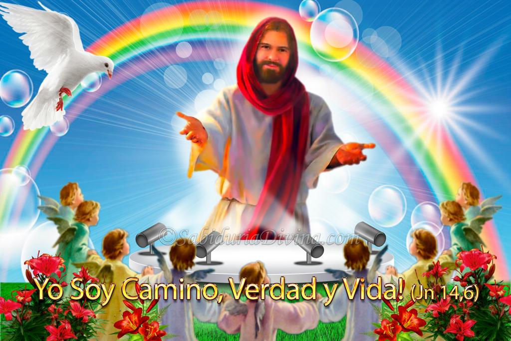 Jesus alegre. Sonrisa de Jesus