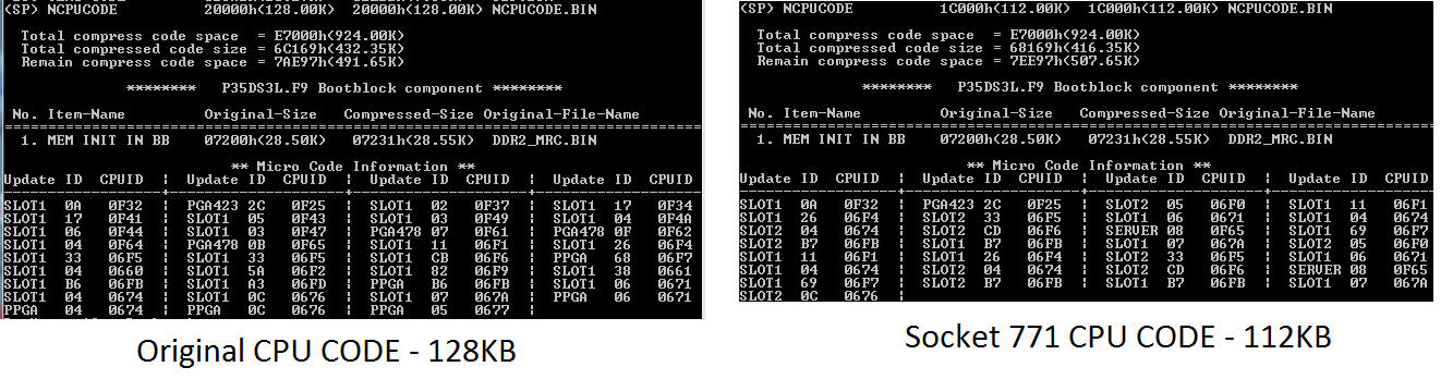 Adding Xeon E5440 support to a Gigabyte P35-DS3L rev  1