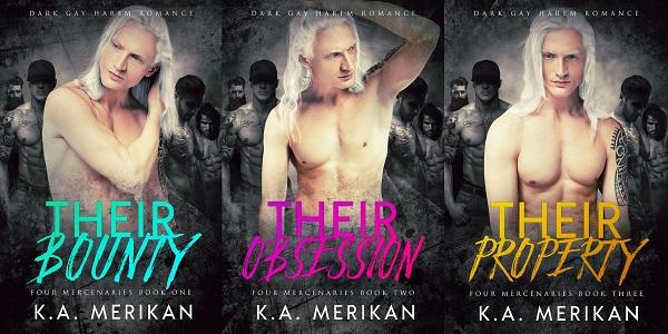 K.A. Merikan - Four Mercenaries series banner
