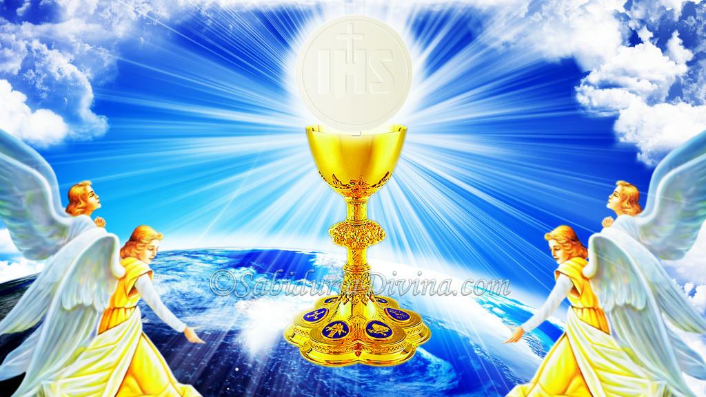 Caliz. Eucaristia. Pan y vino. Cuerpo y Sangre de Cristo