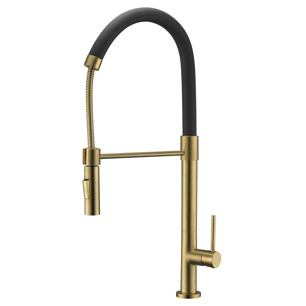 AB50 3732MB Kitchen Faucet, Matte Gold