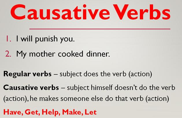 Grammar Causative Verbs Learn English