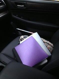 Jennifer Cosgrove - Notebook in Car pic
