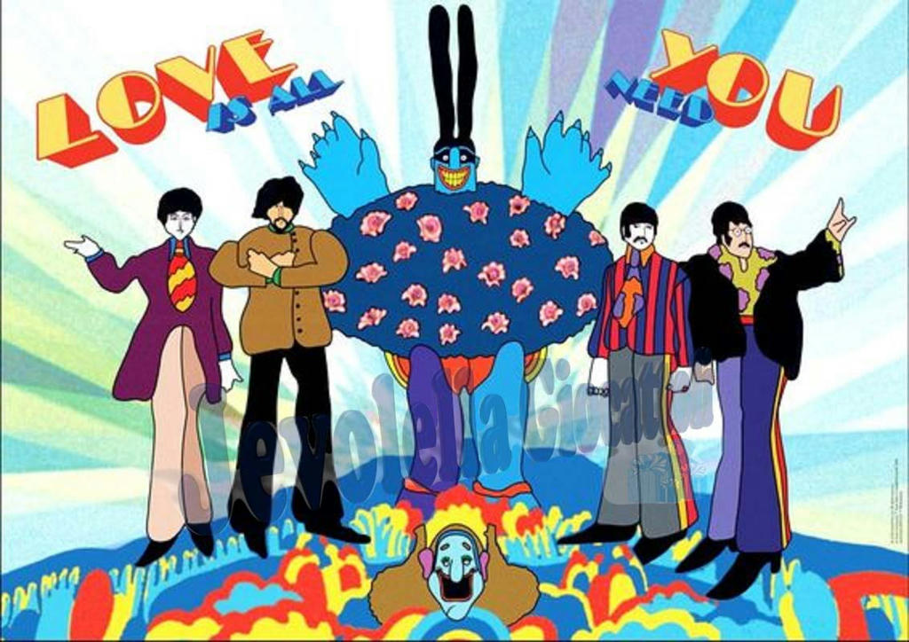 Puzzle heye pz beatles yellow submarine love nuovo