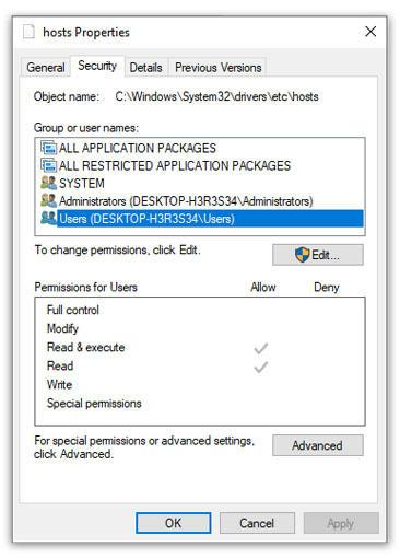 Cara tidak bisa mengedit file host pada windows
