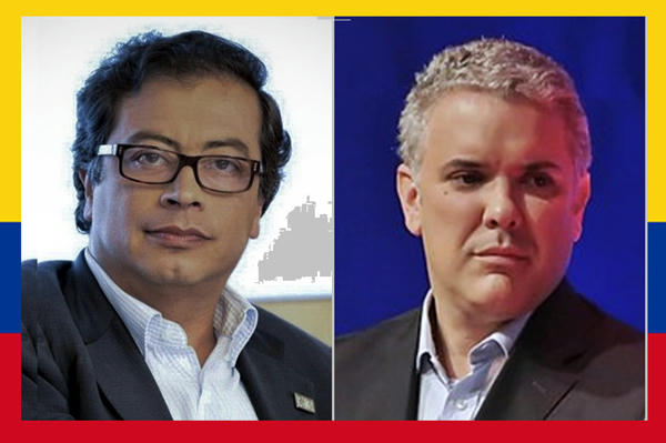 Colombia se va a segunda vuelta presidencial en duro pulso derecha - izquierda