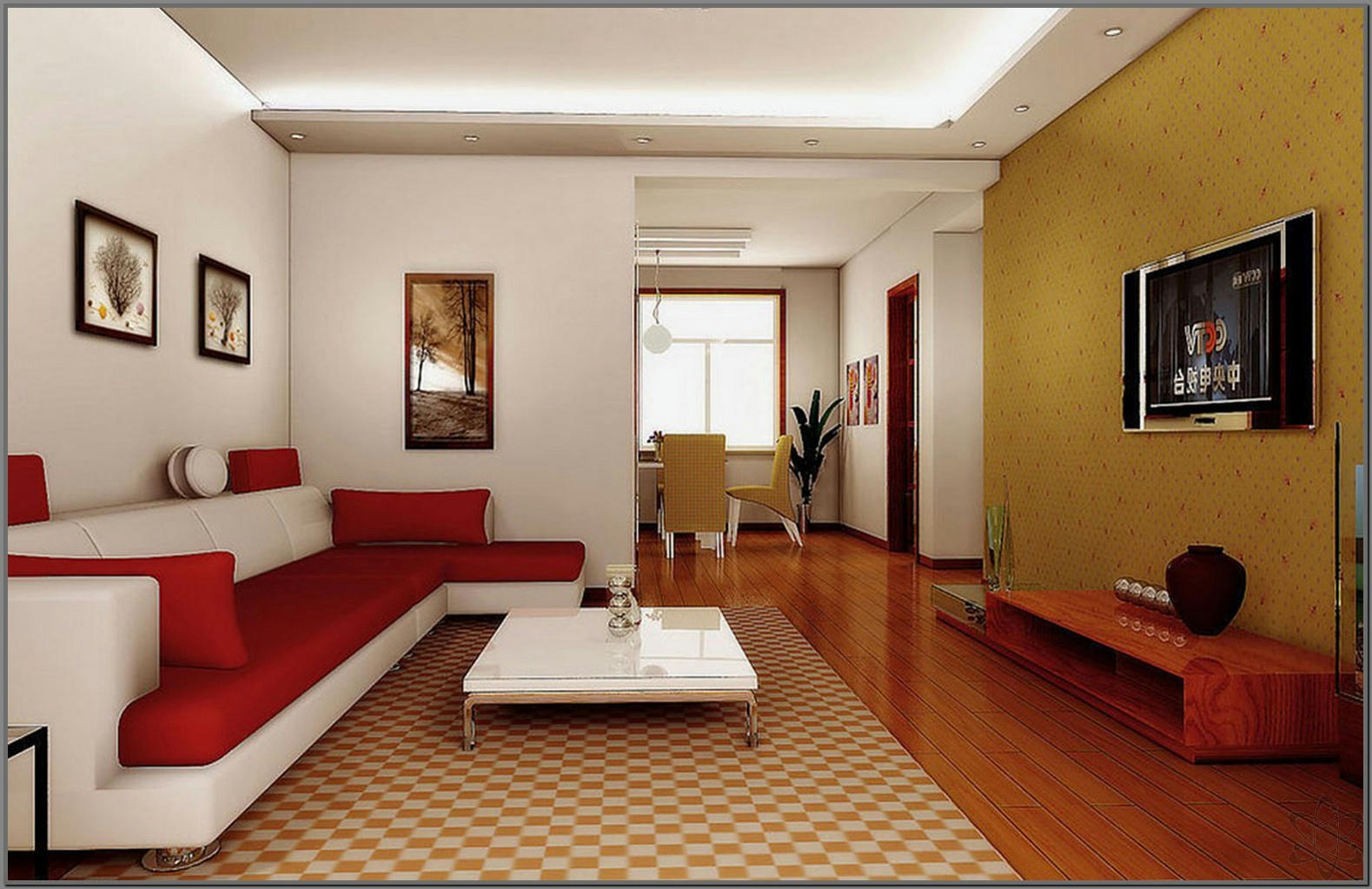 Contoh Ruang Keluarga Minimalis Modern Creopiktura