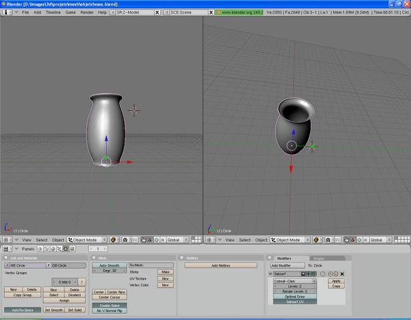 [Intermédiaire] [Blender 2.4 à 2.49] Créer et intégrer son premier mesh de A à Z : 4 - Modélisation d'un vase Bg8cun8d6vcw8a46g