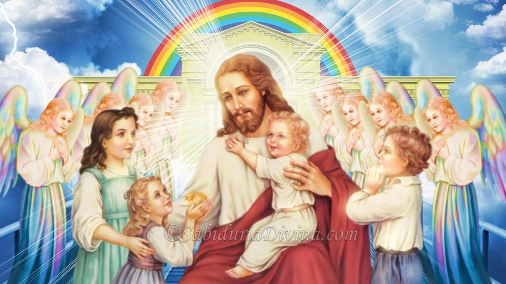 Jesus con niños. Agnus Dei