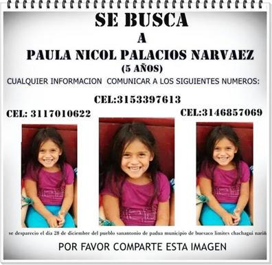 Paula-Nicole-Palacios-Narváez-la-niña-colombiana-desaparecida-desde-diciembre-28-de-2014