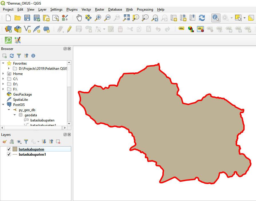 Analisis Geospatial menggunakan Python Bagian 4 - Konversi SHP ke PostgrSQL