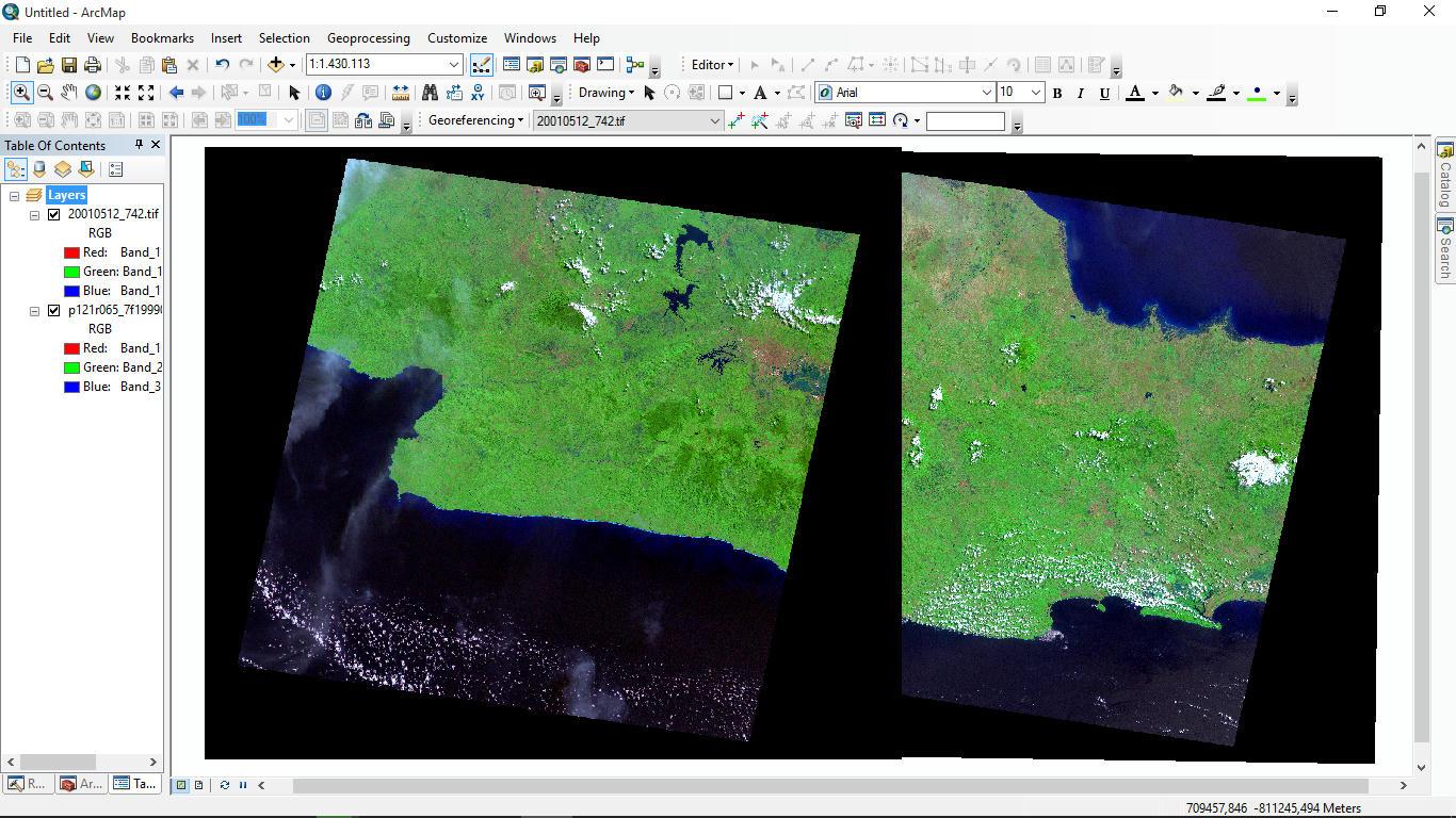 Mosaic Citra Landsat Menggunakan ArcGIS
