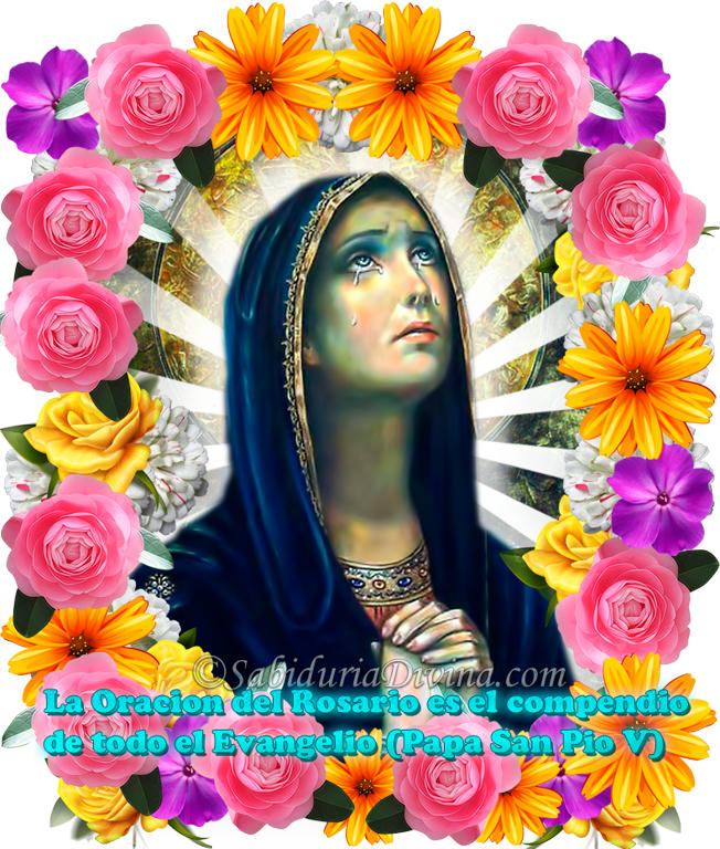 Virgen de las Lágrimas. Virgen dololorosa o de los dolores. Our lady of sorrows