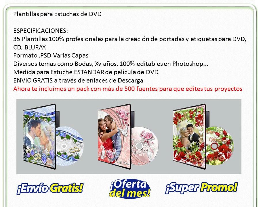 Plantillas para dvd al mejor precio