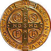 medalla de San Benito - boton