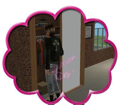 The Sims 2 Apartment Life Apartman Hayatı Wall-Mounted Wardrobe Duvara Monte Edilen Giysi Dolabı