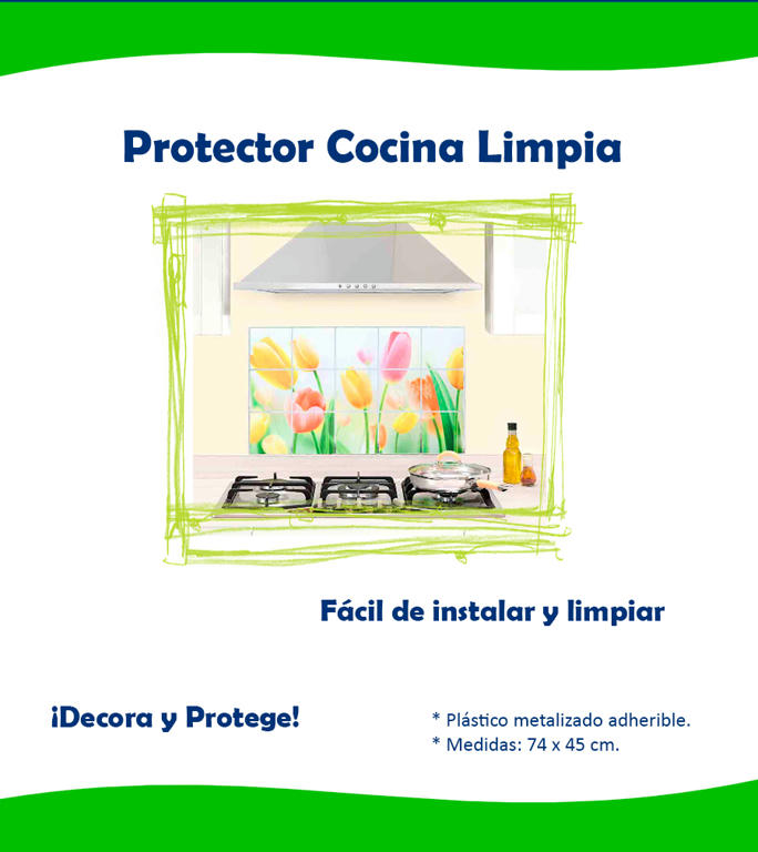 Protector cocina limpia betterware vinil cocina estufa en mercado libre - Protector antisalpicaduras cocina ...
