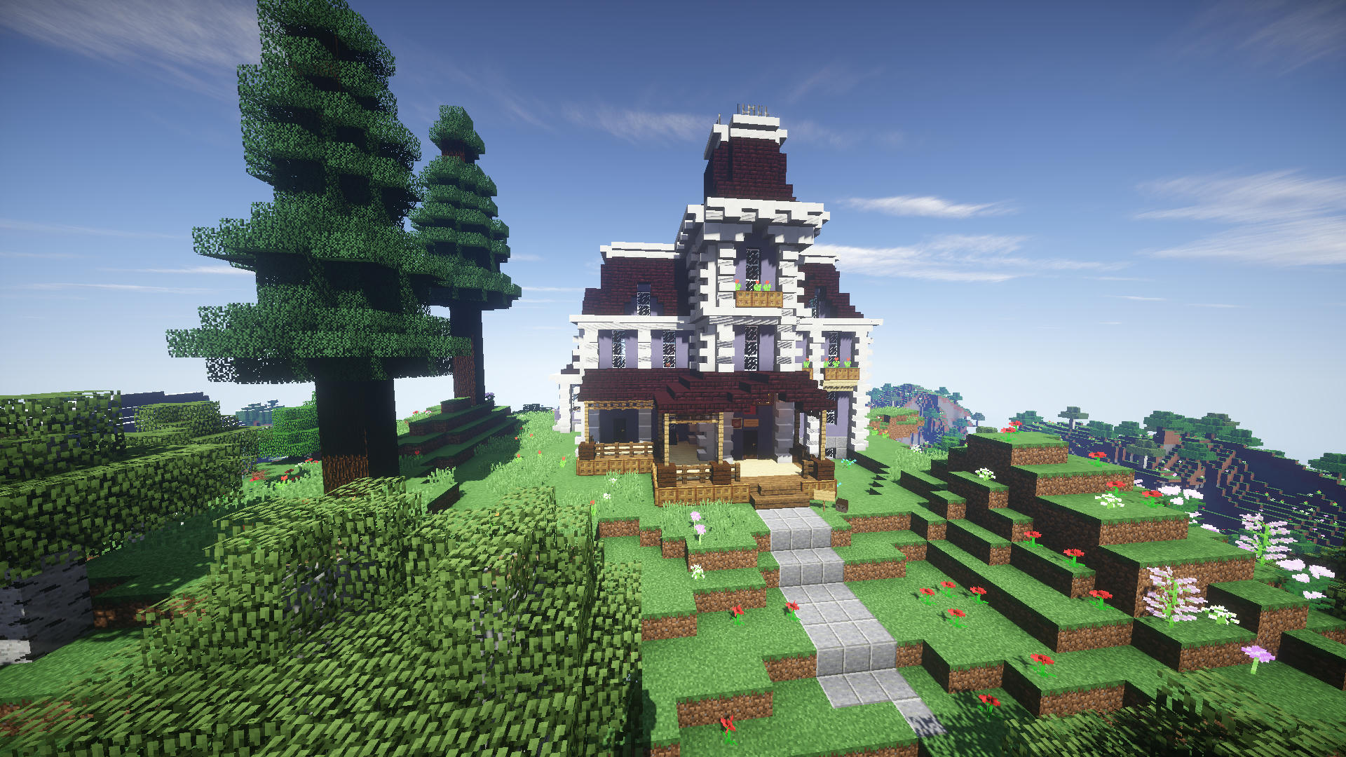 Victorian House / Second Empire Style / For Survival Minecraft Map