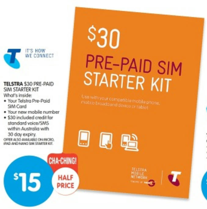Stack Offers on Cheap Prepaid Mobile Handset with Telstra $30 Calling Credit for an Effective Layout of Just $3