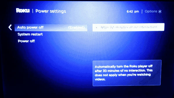 How to Turn Off Roku 4 Via Settings
