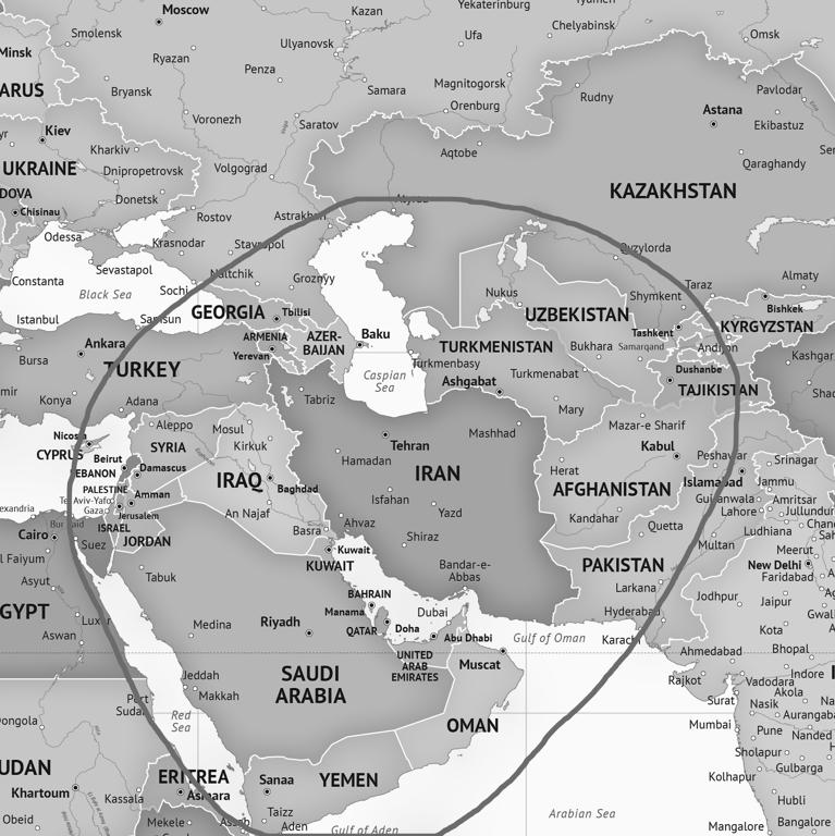 Map of Southwest Asia