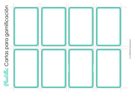 plantilla para crear cartas para gamificación