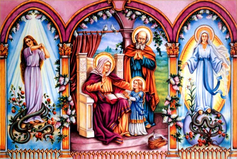 Santa Ana y la Virgen Mar�a