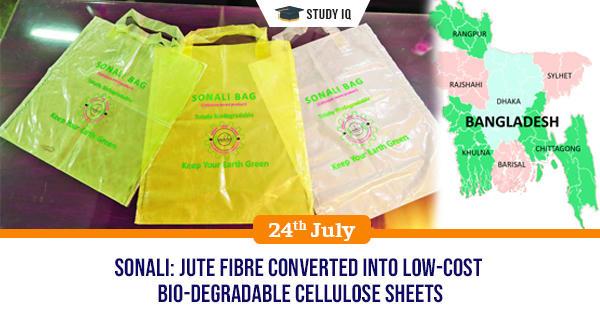 GK Topic, Jute fibre converted into low-cost bio-degradable