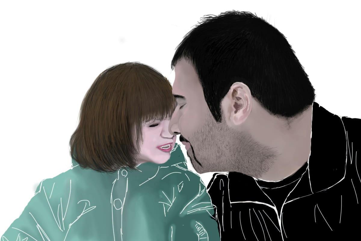 soheil arabi with daughter