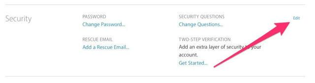 edit security apple id