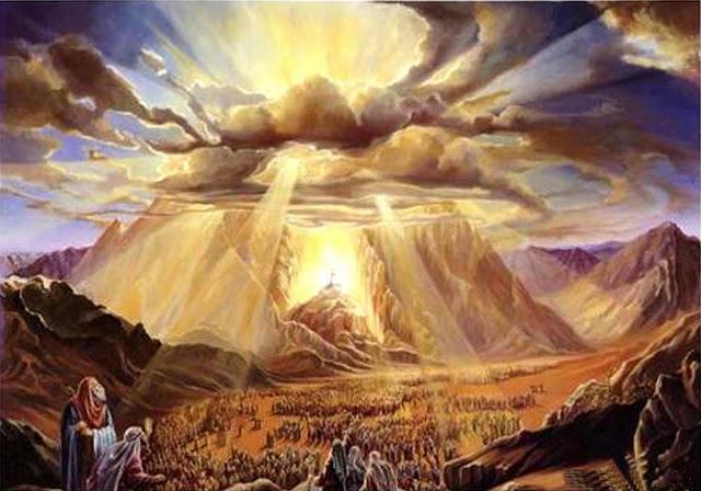 Dios en el monte Sinaí - los mandamientos. Divider14
