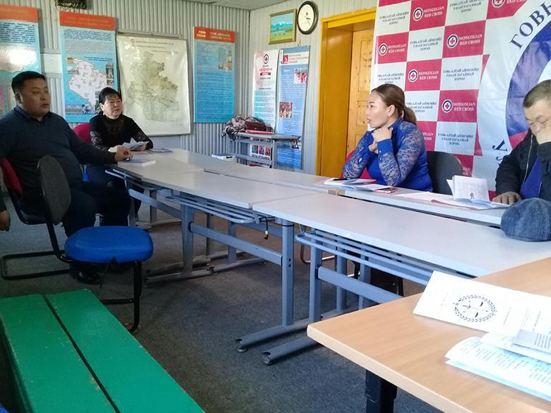 Говь-Алтай аймгийн Улаан загалмайн хорооны ажилтнуудад сургалт оров.