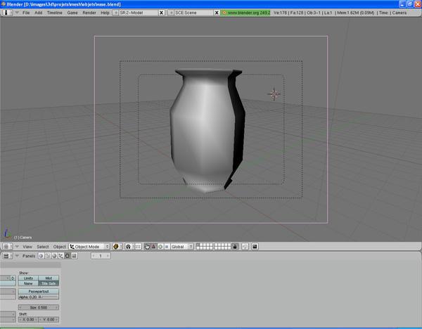 [Intermédiaire] [Blender 2.4 à 2.49] Créer et intégrer son premier mesh de A à Z : 4 - Modélisation d'un vase Aev711igafd7o4f6g