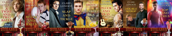 Clare London - With A Kick series banner