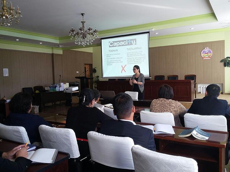 Монголын хуульчдын холбооны сургалт болж байна