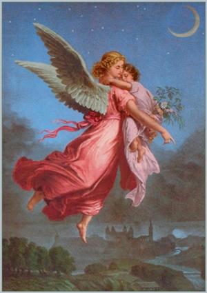 Angel llevando el alma al Cielo - divider6