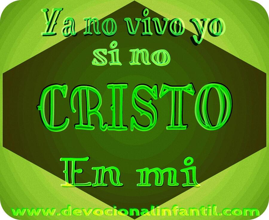 Cristo vive en mi – Tarjeta