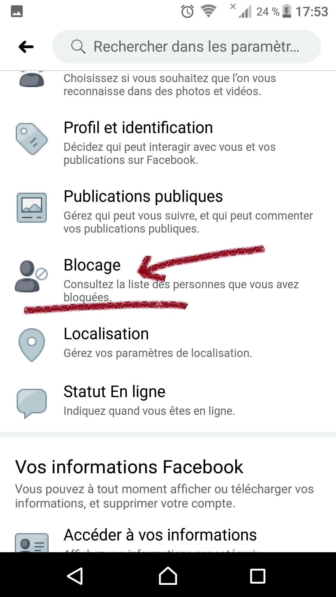 فك الحظر في فيسبوك