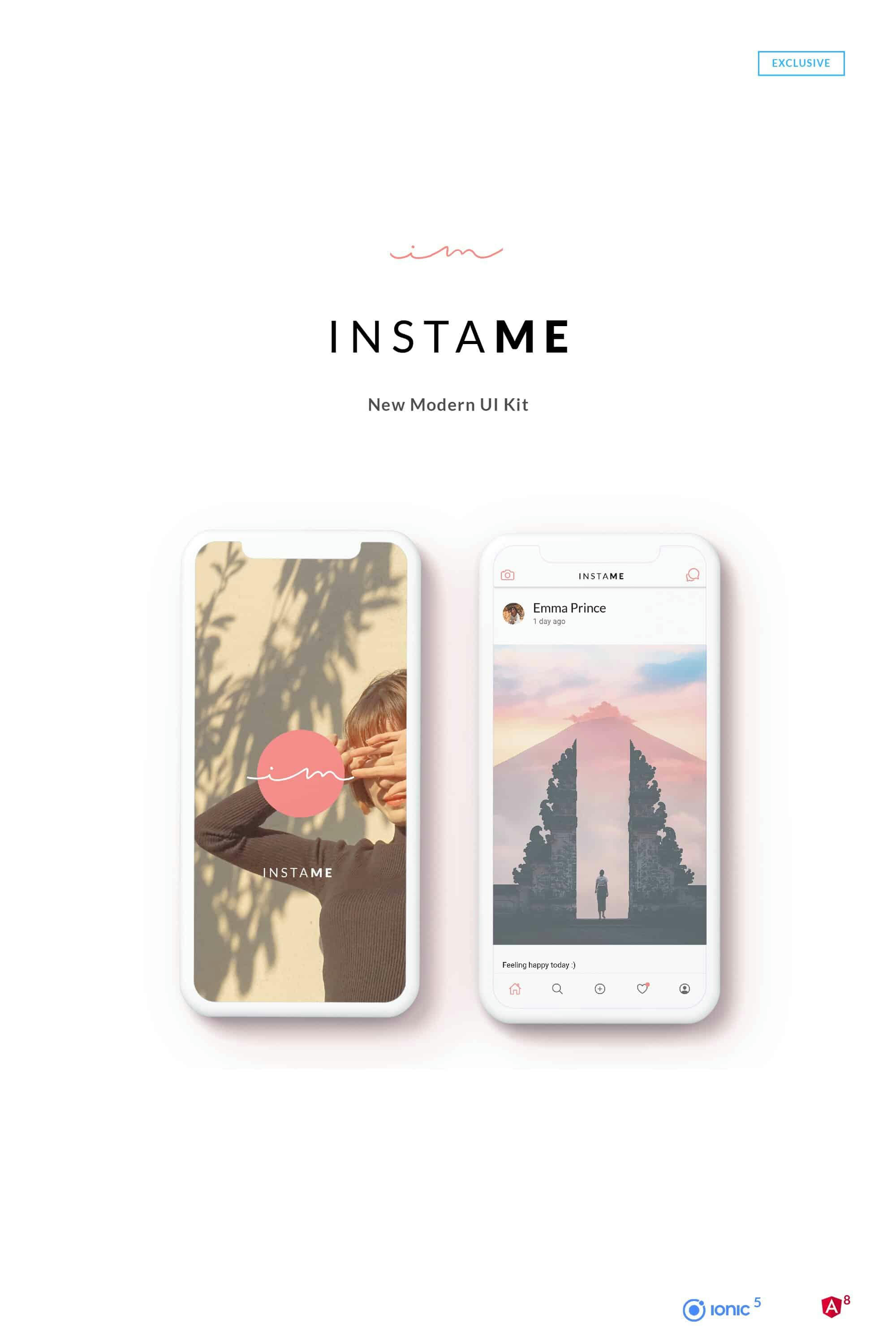 InstaMe - iOS & Android Social Platform Theme - 2