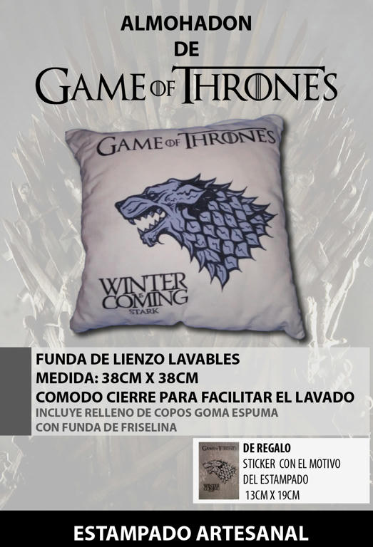 Almohadón Game of thrones Stark