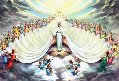 Maria Reina con su Corte de Angeles Celestiales. Divider11