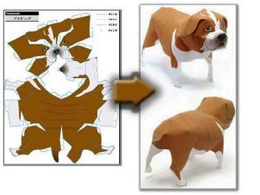 โมเดลกระดาษรูปสัตว์