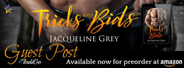 Jacqueline Grey - Tricks & Bids Guest Post Banner