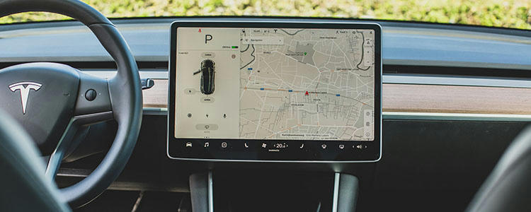 Full Screen Instrument Tesla Electric Cars