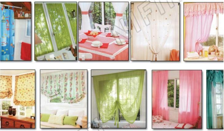 Patrones de cortinas manteles cojines almohadones for Visillos infantiles