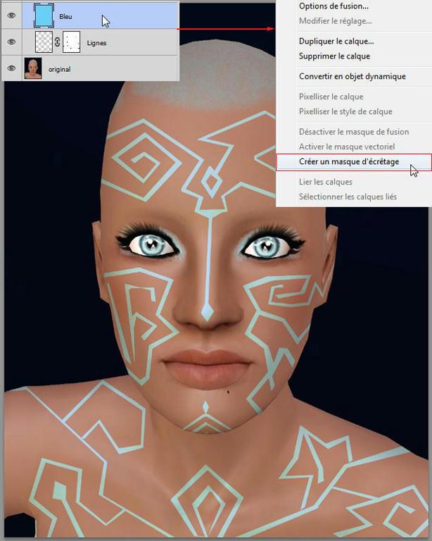 [Apprenti] Effet futuriste - Créer des lignes sur la peau B854335x5d5j6ej6g
