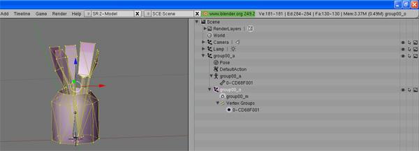 [Apprenti] [Blender 2.4 à 2.49] Créer et intégrer son premier mesh de A à Z / 8-Remplacement du mesh d'origine dans Blender G034r32hcaghjy96g