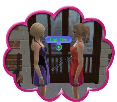 The Sims 2 Apartment Life Apartman Hayatı High Five Gesture Selamlama
