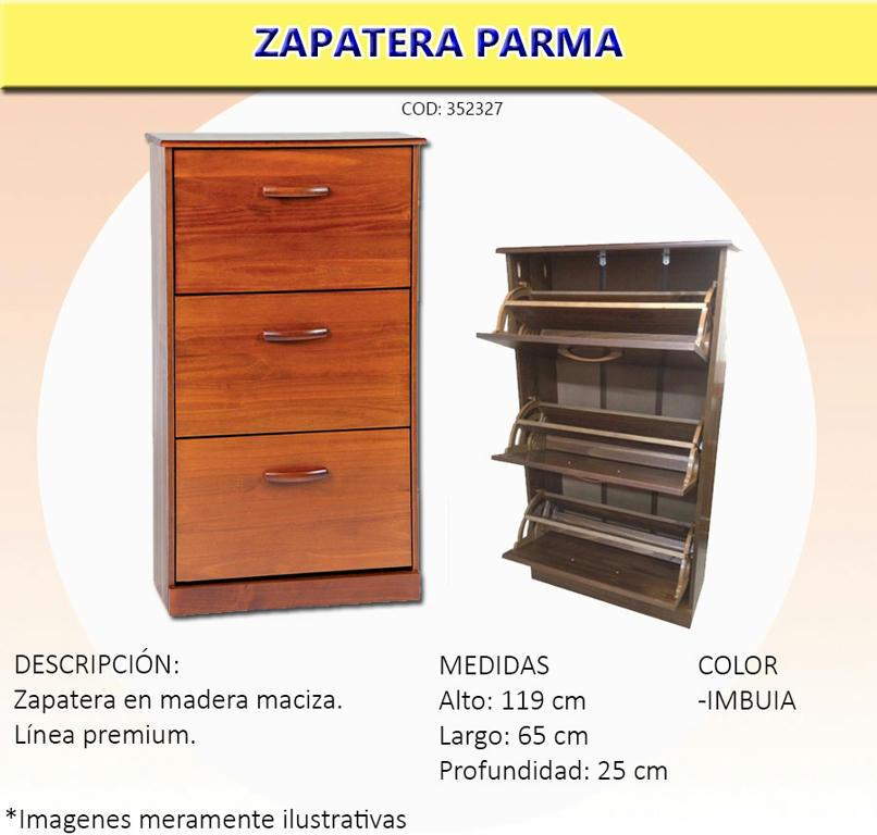 Zapatera madera dormitorio mueble madera 18 pares for Precio de zapateras de madera