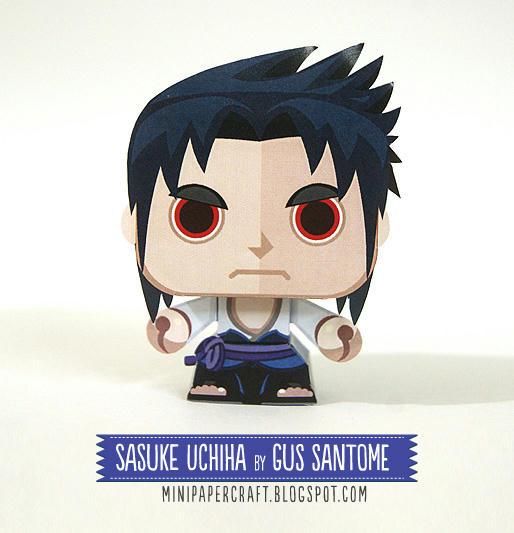 โมเดลกระดาษอุจิวะ ซาซึเกะ-sasuke uchiha papercraft